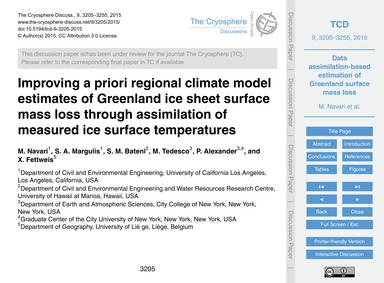 Improving a Priori Regional Climate Mode... by Navari, M.