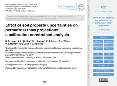 Effect of Soil Property Uncertainties on... by Harp, D. R.
