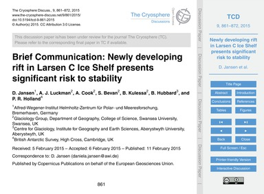 Brief Communication: Newly Developing Ri... by Jansen, D.
