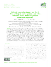Helminth Community Structure and Diet of... by Akani, G. C.