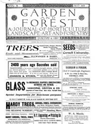 Garden and Forest Volume 10 Issue 463 Ja... by Charles S. Sargent