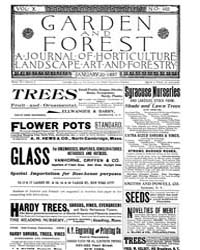 Garden and Forest Volume 10 Issue 465 Ja... by Charles S. Sargent