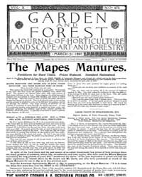 Garden and Forest Volume 10 Issue 475 Ma... by Charles S. Sargent