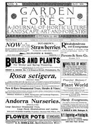 Garden and Forest Volume 10 Issue 500 Se... by Charles S. Sargent