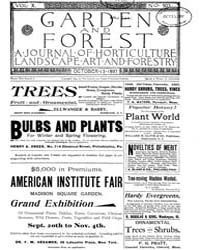 Garden and Forest Volume 10 Issue 503 Oc... by Charles S. Sargent
