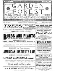Garden and Forest Volume 10 Issue 504 Oc... by Charles S. Sargent