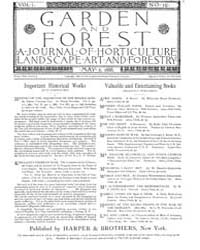 Garden and Forest Volume 1 Issue 10 May ... by Charles S. Sargent