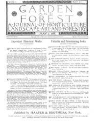 Garden and Forest Volume 1 Issue 11 May ... by Charles S. Sargent
