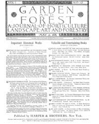 Garden and Forest Volume 1 Issue 12 May ... by Charles S. Sargent