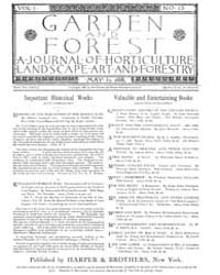 Garden and Forest Volume 1 Issue 13 May ... by Charles S. Sargent