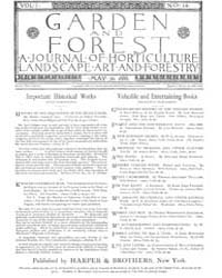 Garden and Forest Volume 1 Issue 14 May ... by Charles S. Sargent