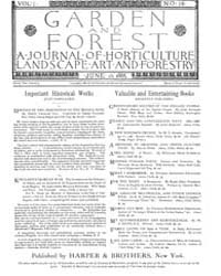 Garden and Forest Volume 1 Issue 16 June... by Charles S. Sargent