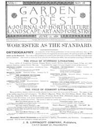 Garden and Forest Volume 1 Issue 18 June... by Charles S. Sargent