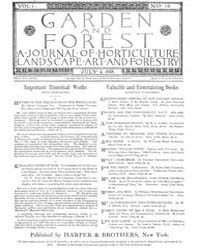 Garden and Forest Volume 1 Issue 19 July... by Charles S. Sargent