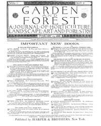 Garden and Forest Volume 1 Issue 1 Febru... by Charles S. Sargent