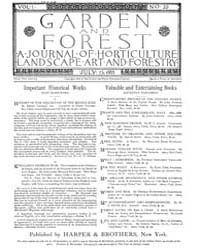 Garden and Forest Volume 1 Issue 22 July... by Charles S. Sargent