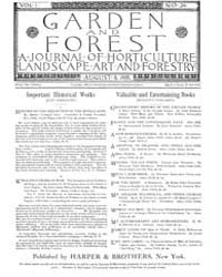 Garden and Forest Volume 1 Issue 24 Augu... by Charles S. Sargent