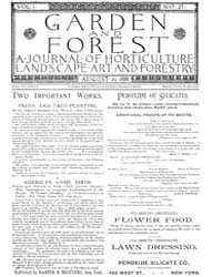 Garden and Forest Volume 1 Issue 27 Sept... by Charles S. Sargent