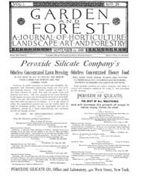 Garden and Forest Volume 1 Issue 29 Sept... by Charles S. Sargent