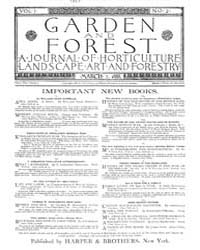 Garden and Forest Volume 1 Issue 2 March... by Charles S. Sargent