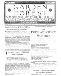 Garden and Forest Volume 1 Issue 30 Sept... by Charles S. Sargent