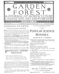 Garden and Forest Volume 1 Issue 31 Sept... by Charles S. Sargent
