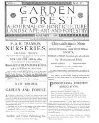 Garden and Forest Volume 1 Issue 37 Nove... by Charles S. Sargent