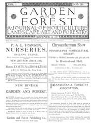 Garden and Forest Volume 1 Issue 38 Nove... by Charles S. Sargent