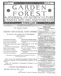 Garden and Forest Volume 1 Issue 3 March... by Charles S. Sargent