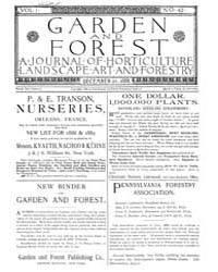 Garden and Forest Volume 1 Issue 42 Dece... by Charles S. Sargent