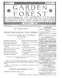 Garden and Forest Volume 1 Issue 4 March... by Charles S. Sargent