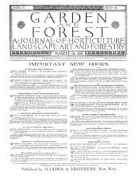 Garden and Forest Volume 1 Issue 5 March... by Charles S. Sargent