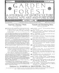 Garden and Forest Volume 1 Issue 6 April... by Charles S. Sargent