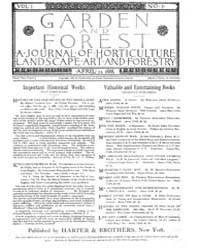 Garden and Forest Volume 1 Issue 7 April... by Charles S. Sargent