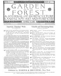 Garden and Forest Volume 1 Issue 9 April... by Charles S. Sargent
