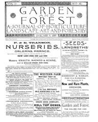 Garden and Forest Volume 2 Issue 46 Janu... by Charles S. Sargent