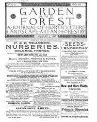 Garden and Forest Volume 2 Issue 47 Janu... by Charles S. Sargent