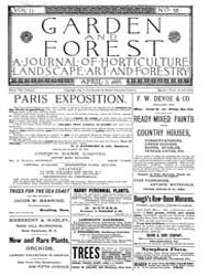 Garden and Forest Volume 2 Issue 58 Apri... by Charles S. Sargent