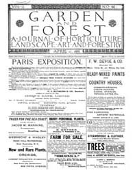 Garden and Forest Volume 2 Issue 60 Apri... by Charles S. Sargent