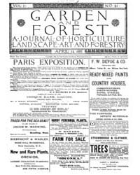 Garden and Forest Volume 2 Issue 61 Apri... by Charles S. Sargent