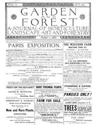 Garden and Forest Volume 2 Issue 62 May ... by Charles S. Sargent