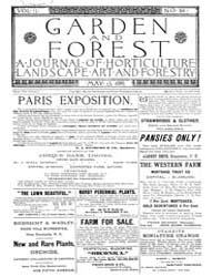 Garden and Forest Volume 2 Issue 64 May ... by Charles S. Sargent