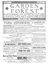 Garden and Forest Volume 2 Issue 65 May ... by Charles S. Sargent