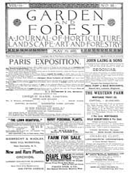 Garden and Forest Volume 2 Issue 66 May ... by Charles S. Sargent