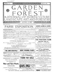 Garden and Forest Volume 2 Issue 67 June... by Charles S. Sargent