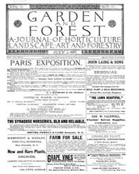 Garden and Forest Volume 2 Issue 71 July... by Charles S. Sargent