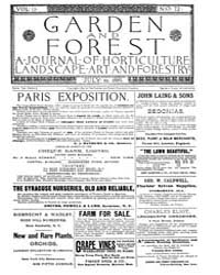 Garden and Forest Volume 2 Issue 72 July... by Charles S. Sargent