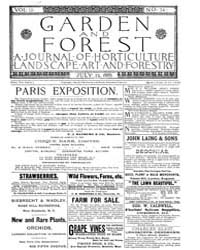 Garden and Forest Volume 2 Issue 74 July... by Charles S. Sargent