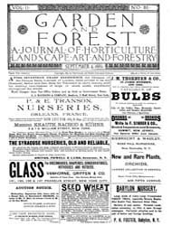 Garden and Forest Volume 2 Issue 80 Sept... by Charles S. Sargent