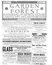 Garden and Forest Volume 2 Issue 81 Sept... by Charles S. Sargent